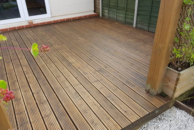 Decking painted